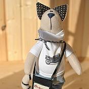 Куклы и игрушки ручной работы. Ярмарка Мастеров - ручная работа Кот байкер. Handmade.