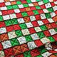 """Текстиль, ковры ручной работы. Лоскутный плед """"Новогодний"""". Annikki Patchworks. Ярмарка Мастеров. Лоскутная техника, подарок, подарок 2016"""