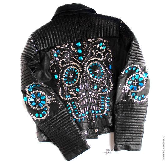 """Верхняя одежда ручной работы. Ярмарка Мастеров - ручная работа. Купить Кожаная куртка """"Skull15""""-1. Handmade. Куртка"""