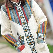Одежда ручной работы. Ярмарка Мастеров - ручная работа Вязаное пальто W6. Handmade.