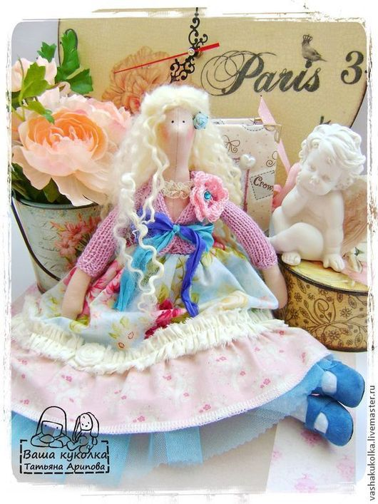 Куклы Тильды ручной работы. Ярмарка Мастеров - ручная работа. Купить Ангел в стиле бохо. Handmade. Тильда, кукла интерьерная