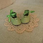 Куклы и игрушки ручной работы. Ярмарка Мастеров - ручная работа Туфли на завязках. Кожа. Обувь для кукол и мишек тедди.. Handmade.