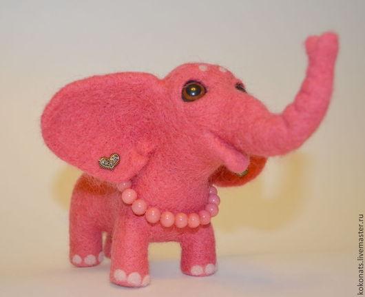 Игрушки животные, ручной работы. Ярмарка Мастеров - ручная работа. Купить Розовая Слоняйка. Handmade. Розовый, для украшений