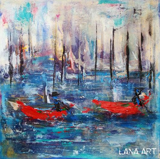 Абстрактная картина. Венеция. Абстрактная живопись. Ярмарка Мастеров. Ручная работа.  Handmade. Lana Art Gallery Живопись & Дизайн