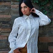 Одежда handmade. Livemaster - original item Stylish linen shirt