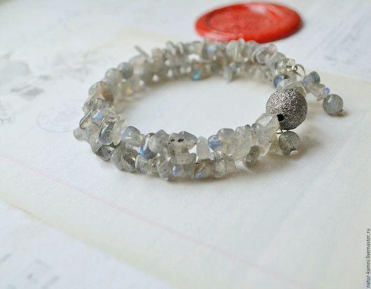 браслет из лунного камня браслет из лабрадорита украшения натуральные камни браслет натуральные многорядный браслет винтажный браслет винтажные украшения браслет лабрадор