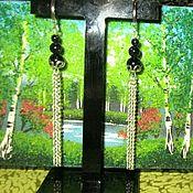 Украшения handmade. Livemaster - original item Beautiful Long earrings with blue aventurine chain. Handmade.