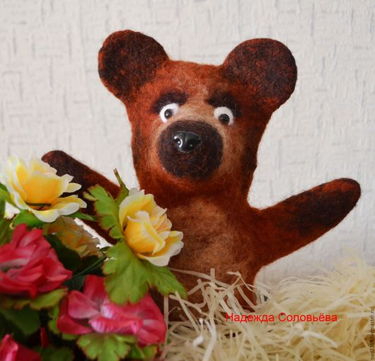 Кукольный театр ручной работы. Ярмарка Мастеров - ручная работа. Купить Медведь Степан, игрушка бибабо, игрушка на руку. Handmade.