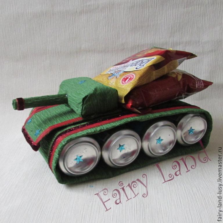Танк из пива Подарок для поклонников world of tanks