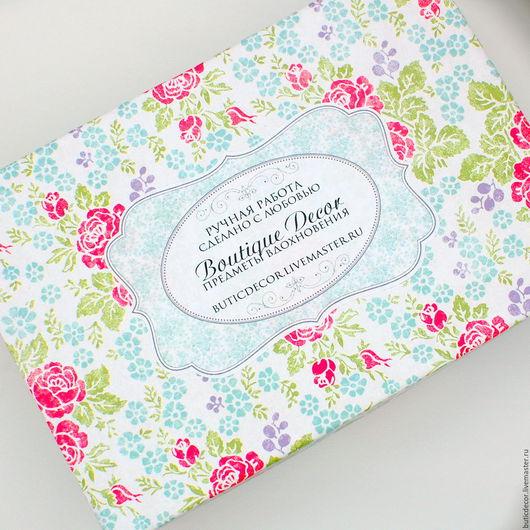 """Упаковка ручной работы. Ярмарка Мастеров - ручная работа. Купить Коробка """"Розовый сад"""". Handmade. Коробочка, упаковка для подарка, розы"""