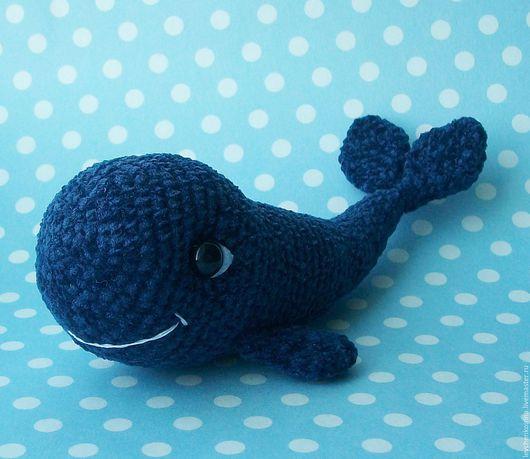 Игрушки животные, ручной работы. Ярмарка Мастеров - ручная работа. Купить Маленький китенок. Handmade. Тёмно-синий, кит вязанный