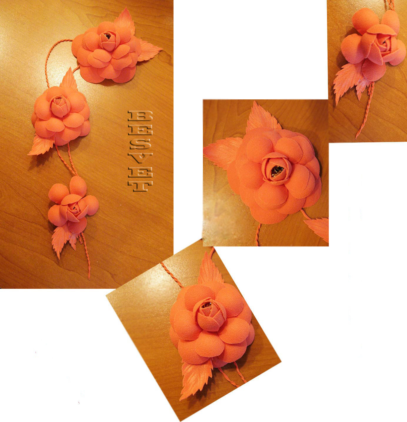 Fabric Flowers Made With The Help Of Tools For Citadele Shop