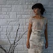 Одежда ручной работы. Ярмарка Мастеров - ручная работа Войлочная теплая юбка. Handmade.