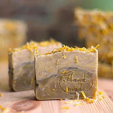"""Косметика ручной работы. Ярмарка Мастеров - ручная работа """"Календула"""" натуральное мыло с нуля. Handmade."""