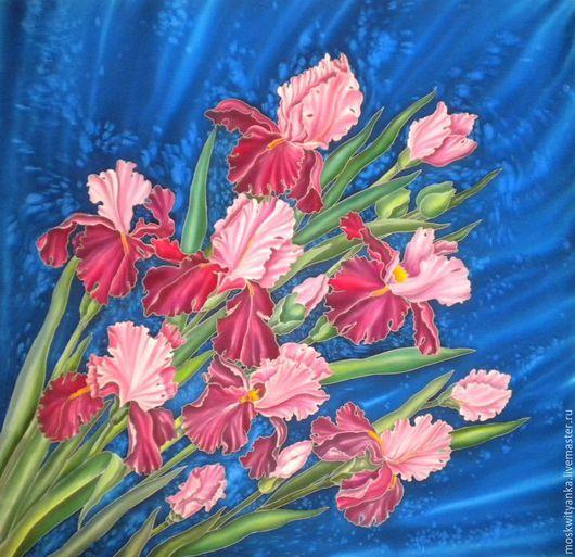 Шелковый платок с ручной росписью - необходимый штрих в гардероб женщины!