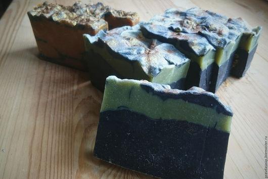 """Мыло ручной работы. Ярмарка Мастеров - ручная работа. Купить Натуральное мыло """"Детокс"""". Handmade. Черный, натуральное мыло"""