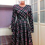 Одежда ручной работы. Ярмарка Мастеров - ручная работа - 25% Последний размер Трикотажное платье миди Шарлотта. Handmade.