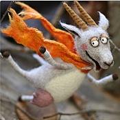 """Куклы и игрушки ручной работы. Ярмарка Мастеров - ручная работа Коза """"Летящей походкой, я вышла из дома...!"""". Handmade."""