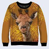 """Одежда ручной работы. Ярмарка Мастеров - ручная работа Свитшот """"Жираф"""". Handmade."""