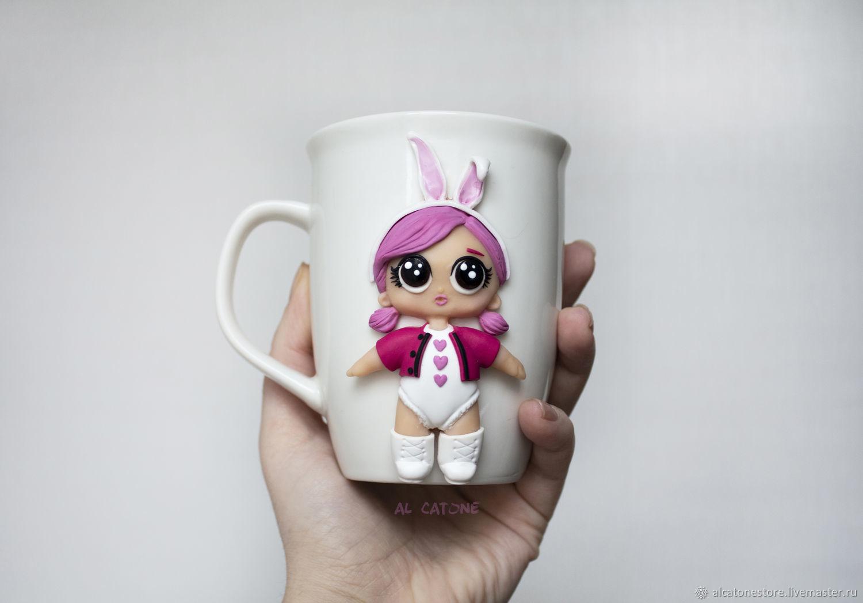 Doll Lol Decor On A Mug Of Polymer Clay Zakazat Na Yarmarke Masterov Hz76hcom Kruzhki I Chashki Krasnodar