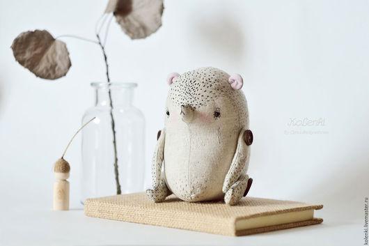 Игрушки животные, ручной работы. Ярмарка Мастеров - ручная работа. Купить Медвежонок льняной с мешочком. Handmade. Серый, медведь игрушка
