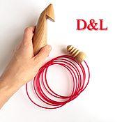 Материалы для творчества ручной работы. Ярмарка Мастеров - ручная работа Деревянный тунисский крючок для вязания 35, 40, 45 мм. Handmade.