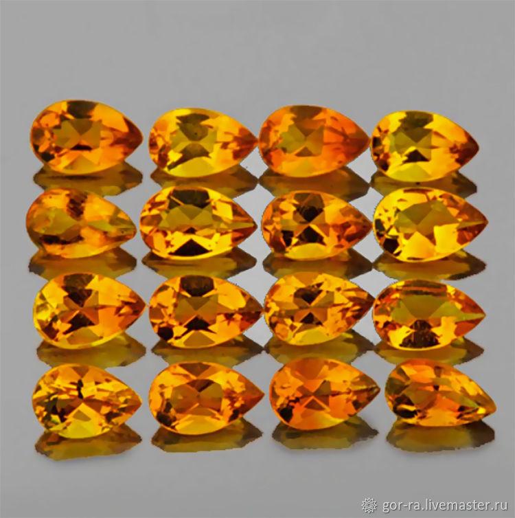 Natural citrine 3h5 mm, Minerals, Yoshkar-Ola,  Фото №1