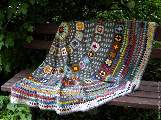 """Текстиль, ковры ручной работы. Ярмарка Мастеров - ручная работа. Купить Плед """"Gypsy""""в стиле бохо.. Handmade. Комбинированный, подарок"""