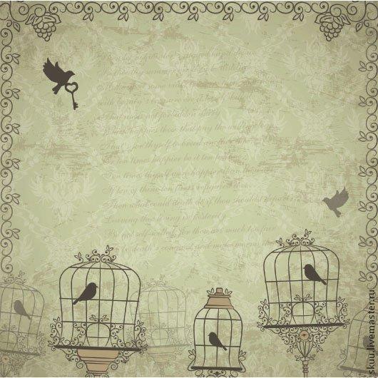 """Открытки и скрапбукинг ручной работы. Ярмарка Мастеров - ручная работа. Купить 4 вида Бумага для скрапбукинга """"На крыльях любви"""" часть 2. Handmade."""