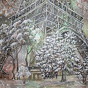 Картины и панно ручной работы. Ярмарка Мастеров - ручная работа В кружении снегопада.... Картина на органзе.. Handmade.