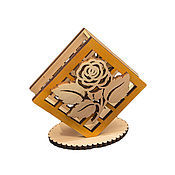 Для дома и интерьера handmade. Livemaster - original item Napkin holder wooden