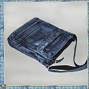 Сумки и аксессуары ручной работы. Ярмарка Мастеров - ручная работа Сумка из джинсовой ткани. Handmade.
