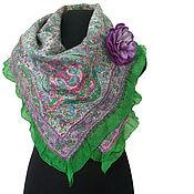 handmade. Livemaster - original item Felted scarf on silk Oriental tales. Handmade.