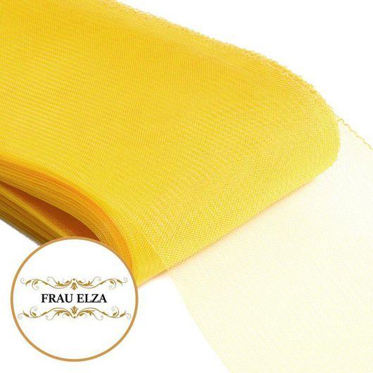 Шитье ручной работы. Ярмарка Мастеров - ручная работа. Купить Кринолин, мягкий регилин (16см) - желтый. Handmade. Кринолин, регелин