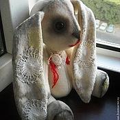 Куклы и игрушки ручной работы. Ярмарка Мастеров - ручная работа Авторская игрушка зайка - тедди  Нэнси. Handmade.
