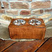 """Для домашних животных, ручной работы. Ярмарка Мастеров - ручная работа Подставка под 2 миски """"LOFT"""". Handmade."""