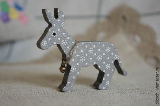 Игрушки животные, ручной работы. Ярмарка Мастеров - ручная работа. Купить Самый маленький Серый Ослик. Handmade. Серый