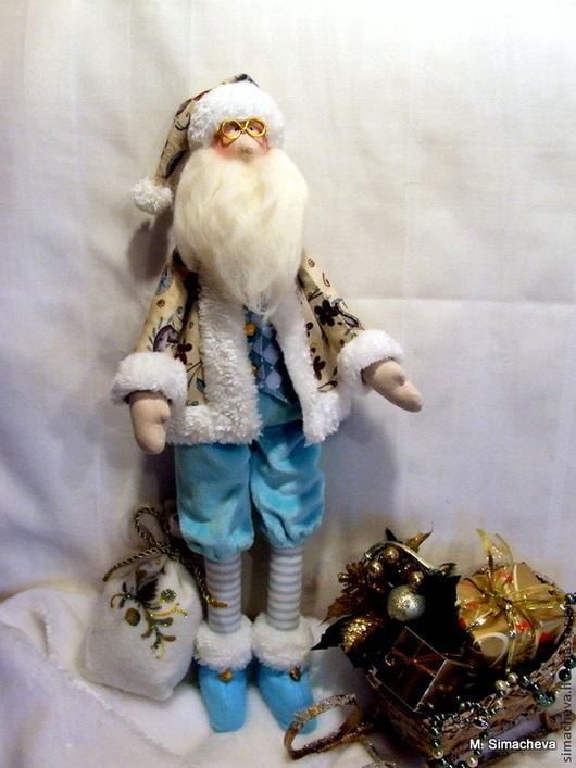 Коллекционные куклы ручной работы. Ярмарка Мастеров - ручная работа. Купить Мудрый Санта Клаус. Handmade. Санта клаус, проволока