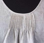 Одежда handmade. Livemaster - original item Crochet dress, cotton linen color, in the style boho. Handmade.
