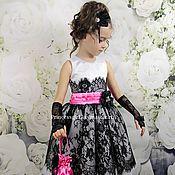 """Работы для детей, handmade. Livemaster - original item Платье для девочки """"Габриэлла"""". Handmade."""