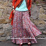 Одежда ручной работы. Ярмарка Мастеров - ручная работа Юбка бохо Арт.027 из итальянского сатина с узором пейсли. Handmade.