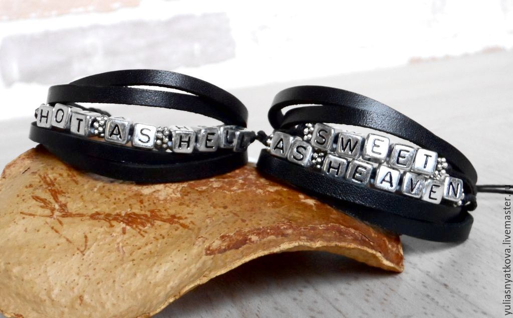 Bracelets Handmade Livemaster Leather Love Letter Name Bracelet
