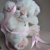 Куклы и игрушки handmade. Livemaster - original item Teddy the kitten snowflake. Handmade.