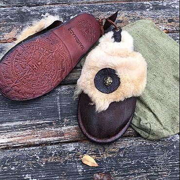 Обувь ручной работы. Ярмарка Мастеров - ручная работа Дорогие, подарочные тапочки из натурального меха. Handmade.