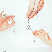Украшения ручной работы. Ярмарка Мастеров - ручная работа Серьги DESIGN1032 (стекло). Handmade.