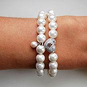 Украшения handmade. Livemaster - original item A set of bracelets mother of pearl and pearls. Handmade.