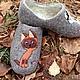 Обувь ручной работы. домашние валяные тапочки из натуральной шерсти Гав и Шарик. Кэт & Ко (6116466). Интернет-магазин Ярмарка Мастеров.