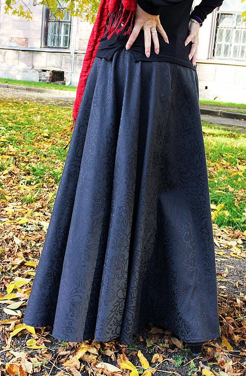 Купить осеннюю юбку длинную