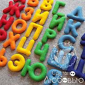 """Куклы и игрушки ручной работы. Ярмарка Мастеров - ручная работа Алфавит из фетра  """"Радуга"""". Handmade."""