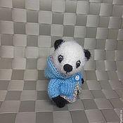 Куклы и игрушки ручной работы. Ярмарка Мастеров - ручная работа Мишка вязаный панда Василёк. Handmade.